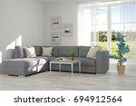 idea of white minimalist room... | Shutterstock . vector #694912564