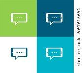horizontal smartphone chatting...