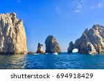 beautiful ocean and rocks | Shutterstock . vector #694918429