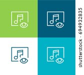 music player green and blue...