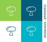 mushroom green and blue color...