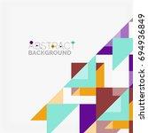 triangle pattern design... | Shutterstock .eps vector #694936849