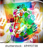 abstract colorful hand...   Shutterstock .eps vector #69493738