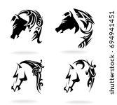 horse set on white background ... | Shutterstock .eps vector #694941451