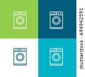 washing machine green and blue...