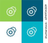 gears green and blue material...