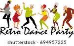 group of active seniors dressed ...   Shutterstock .eps vector #694957225