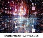digital city series. backdrop... | Shutterstock . vector #694966315