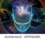 radiating mind series. 3d... | Shutterstock . vector #694966381
