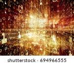 digital city series. artistic... | Shutterstock . vector #694966555