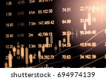 stock market or forex trading... | Shutterstock . vector #694974139