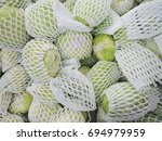 closed up heap of cabbage wrap... | Shutterstock . vector #694979959