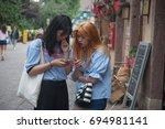 colmar   france   9 august 2017 ...   Shutterstock . vector #694981141