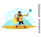 camping and outdoor activities... | Shutterstock .eps vector #694990051