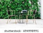 furnitures with empty chair and ... | Shutterstock . vector #694998991
