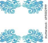 beautiful sea frame. vector... | Shutterstock .eps vector #695002999
