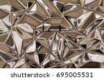 abstract metal texture with... | Shutterstock . vector #695005531