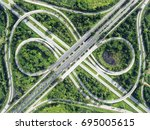 road traffic in city at... | Shutterstock . vector #695005615