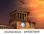 Flag of armenia on the roof of...