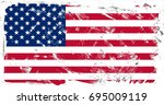 united states of america flag... | Shutterstock . vector #695009119