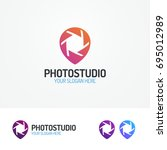 photostudio logo set with... | Shutterstock . vector #695012989