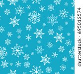 snowflake simple seamless... | Shutterstock .eps vector #695013574