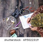 russia   lapland   september 18 ... | Shutterstock . vector #695022319