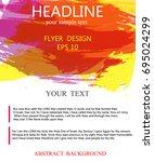vector flyer wallpaper design... | Shutterstock .eps vector #695024299