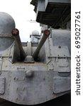 View Of A Gun Of Soviet Cruiser