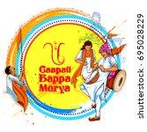 illustration of lord ganpati... | Shutterstock .eps vector #695028229