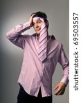 man with tie around head and... | Shutterstock . vector #69503557