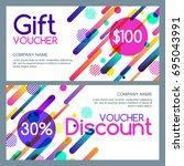 vector gift and discount...   Shutterstock .eps vector #695043991