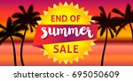 end of summer sale banner... | Shutterstock .eps vector #695050609
