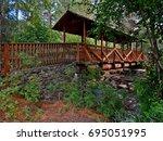 whychus bridge   footbridge...   Shutterstock . vector #695051995