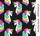 cute childish seamless pattern... | Shutterstock . vector #695066419