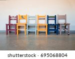 Group Of Colorful Kid Chair...