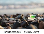 Sea Shore And Sea Glass.