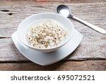 healthy breakfast of boiled job'... | Shutterstock . vector #695072521