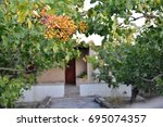 egina island of pistachios...   Shutterstock . vector #695074357