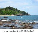 krabi   thailand   march 11...   Shutterstock . vector #695074465