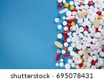 a large variety of medicinal... | Shutterstock . vector #695078431