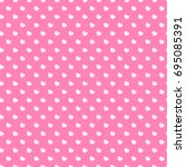 heart seamless pattern on pink... | Shutterstock . vector #695085391