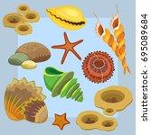 vector illustration. color of... | Shutterstock .eps vector #695089684