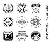 simple mono lines logos... | Shutterstock .eps vector #695089861