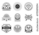 simple mono lines logos... | Shutterstock .eps vector #695089894