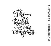 vector religious lettering  ... | Shutterstock .eps vector #695091841