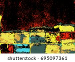 abstract colorful grunge... | Shutterstock .eps vector #695097361
