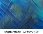 colorful of macaw feather for... | Shutterstock . vector #695099719