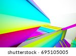 abstract dynamic interior with...   Shutterstock . vector #695105005