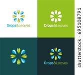 drops   leaves   vector... | Shutterstock .eps vector #695108791